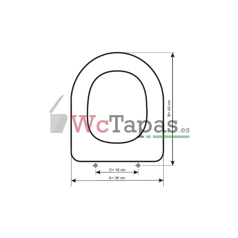 Tapa wc compatible happening roca - Tapas wc decoradas ...