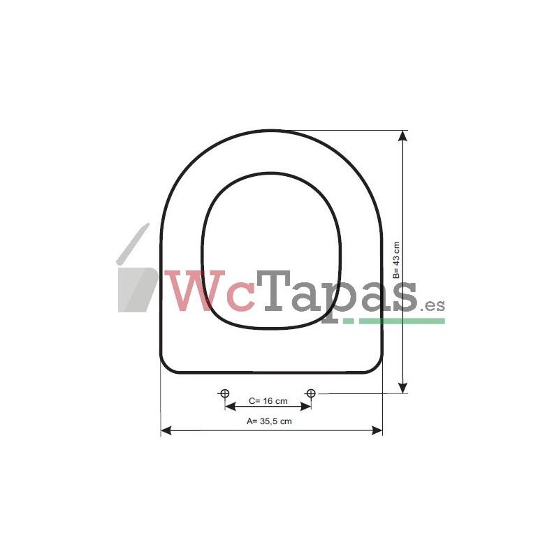 Tapa wc compatible meridian roca for Tapa wc roca victoria