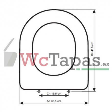 Tapa Wc COMPATIBLE Proget Unisan.