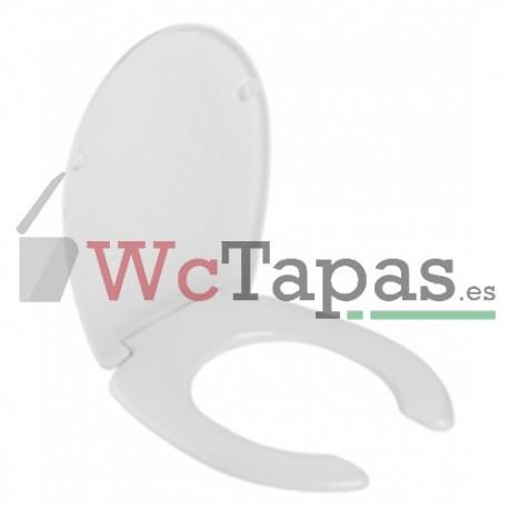 Asiento con apertura inodoro cetus unisan wc tapas for Asiento apertura