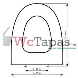 Tapa Wc COMPATIBLE Techno C1 Cifial.