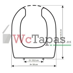Tapa Wc COMPATIBLE PMR Cifial.