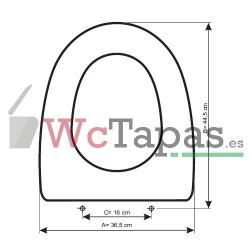 Tapa Wc COMPATIBLE Portobello Cifial.
