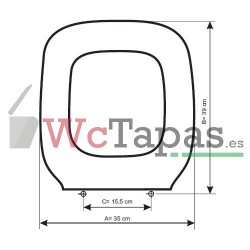 Tapa Wc COMPATIBLE Techno C4 Cifial.