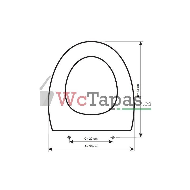 Tapa inodoro compatible presquile jacob delafon - Inodoros jacob delafon ...