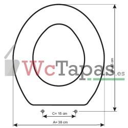 Tapa Wc COMPATIBLE Ecco Ideal Standard.
