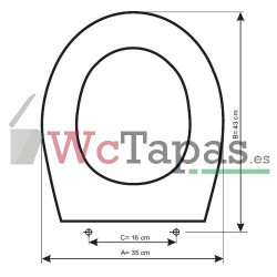 Tapa inodoro COMPATIBLE Kheops Ideal Standard.