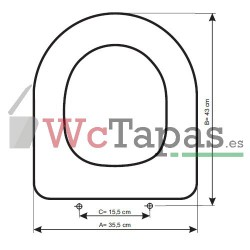 Tapa inodoro COMPATIBLE Madison Ideal Standard.