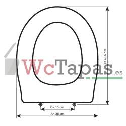 Tapa inodoro COMPATIBLE San Remo Ideal Standard.