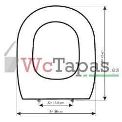 Tapa inodoro COMPATIBLE Tesi Ideal Standard.