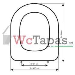 Tapa Wc COMPATIBLE Darling Recto Duravit.