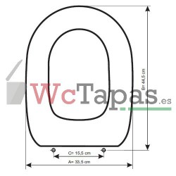 Tapa Wc COMPATIBLE Embassi corto Facis.