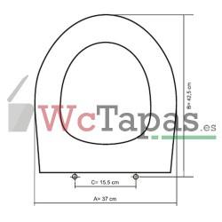 Tapa Wc COMPATIBLE Targa Villeroy Boch.