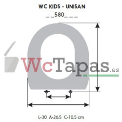 Asiento inodoro COMPATIBLE Infantil Unisan Wc Kids.