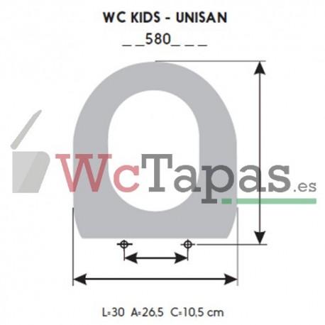 Asiento inodoro COMPATIBLE Infantil Unisan Wc Kids.