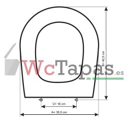 Tapa Wc COMPATIBLE Optima Cifial.