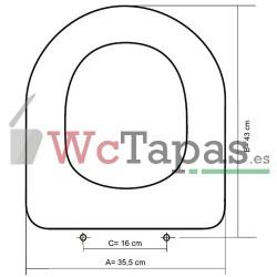 Tapa inodoro COMPATIBLE M2-50 cm Galassia