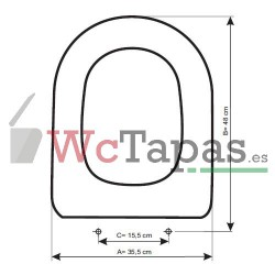 Tapa Wc COMPATIBLE Alfa Unisan.