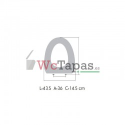 Tapa Wc COMPATIBLE Ibiza Bathco.