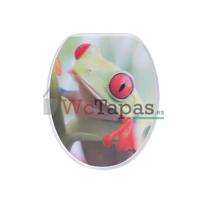 Tapa Wc G Granato Dibujo Rana 3d