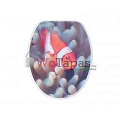 Tapa Wc G-Granato Dibujo Pesce Pagliaccio 3D.