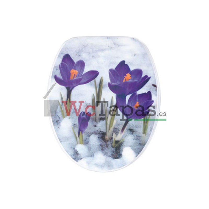 Tapa wc g granato dibujo fiori 3d for Tapa wc victoria