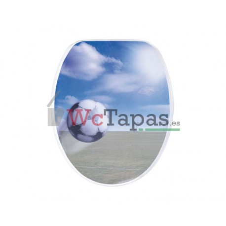 Tapa Wc G-Granato Dibujo Pallone 3D.