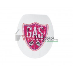 Tapa Wc G-Onice Dibujo Gas.
